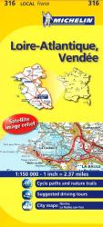 Loire-Atlantique, Vendee (316) by Michelin Maps and Guides