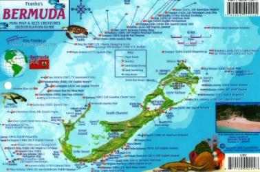 Bermuda Map, Bermuda Fish Card 2009 by Frankos Maps Ltd.