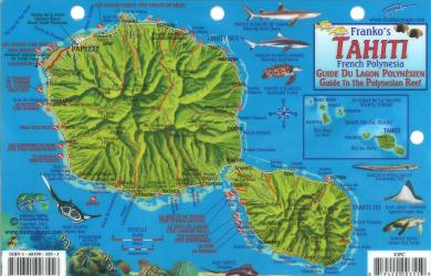 Flat maps tahiti french polynesia guide to the polynesian reef by frankos maps ltd gumiabroncs Image collections