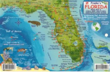 Florida maps united states maps north america maps evmaplink florida keys fish id card by frankos maps ltd gumiabroncs Image collections