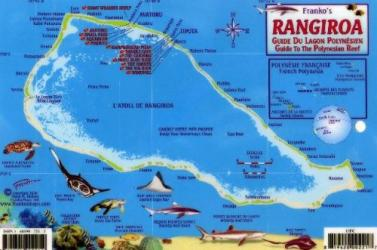 Rangiroa, Guide to the Polynesian Reef by Frankos Maps Ltd.