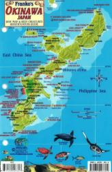 Okinawa, Japan, Dive Map and Reef Creatures Identification Guide by Frankos Maps Ltd.