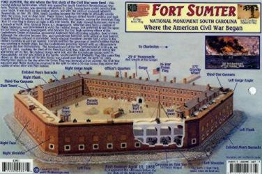 Fort Sumter National Monument, South Carolina by Frankos Maps Ltd.
