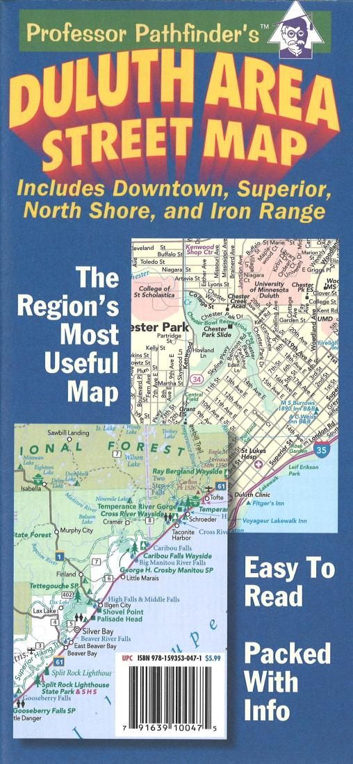 Duluth Minnesota And Superior Wisconsin By Hedberg Maps