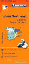 Aragon, Catalunya, Andorra and Spain, Northeast (574) by Michelin Maps and Guides