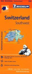 Switzerland, Southwest (552) by Michelin Maps and Guides