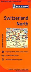 Switzerland, North (551) by Michelin Maps and Guides