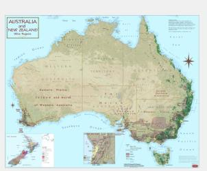Australia and New Zealand, Wine Regions by Vinmaps