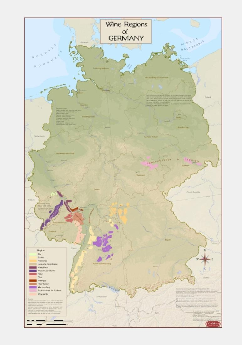 Map Of Germany Regions.Germany Wine Regions By Vinmaps