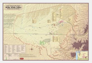 Walla Walla Valley, Pacific NW Wine Region by Vinmaps