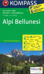 Alpi Bellunesi by Kompass