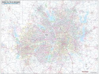 Dallas-Ft.Worth Metroplex Detailed Region by Metro Maps