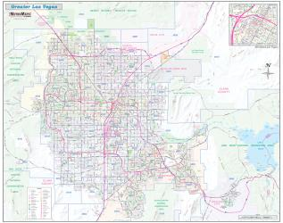 Greater Las Vegas Detailed Region by Metro Maps