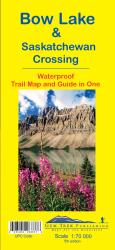 Bow Lake and Saskatchewan Crossing, Waterproof Trail Map and Guide in One by Gem Trek