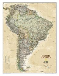 South America, Executive, Sleeved by National Geographic Maps