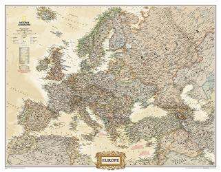 Europe Executive Enlarged Wall Map - Laminated (46 x 35.75 inches) by National Geographic Maps