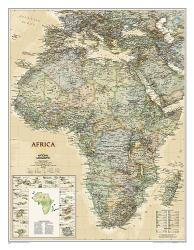 Africa, Executive, Sleeved by National Geographic Maps