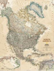 North America, Executive, Sleeved by National Geographic Maps