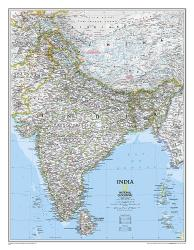 India Classic Wall Map (23.5 x 30.25 inches) by National Geographic Maps