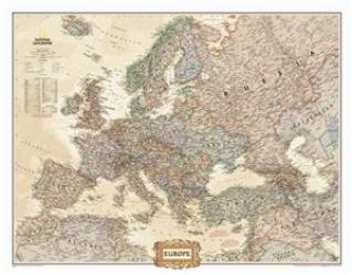 Europe Executive Enlarged Wall Map (46 x 35.75 inches) by National Geographic Maps