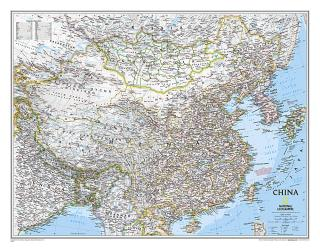 China Classic Wall Map (30.25 x 23.5 inches) by National Geographic Maps