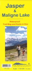 Jasper National Park and Maligne Lake, BC Trail Map and Guide in One (waterproof) by Gem Trek