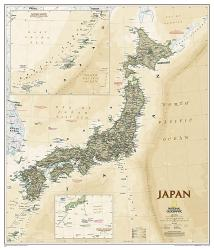 Japan Executive Wall Map - Laminated (25 x 29.25 inches) by National Geographic Maps