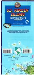 Caribbean Map, US Virgin Islands Guide and Dive, folded, 2015 by Frankos Maps Ltd.