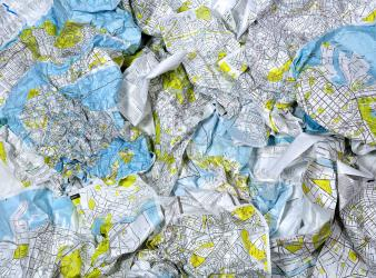 Venice, Italy Crumpled City Map by Palomar S.r.l.