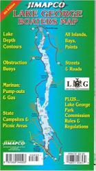Lake George, New York, Boater's Map by Jimapco