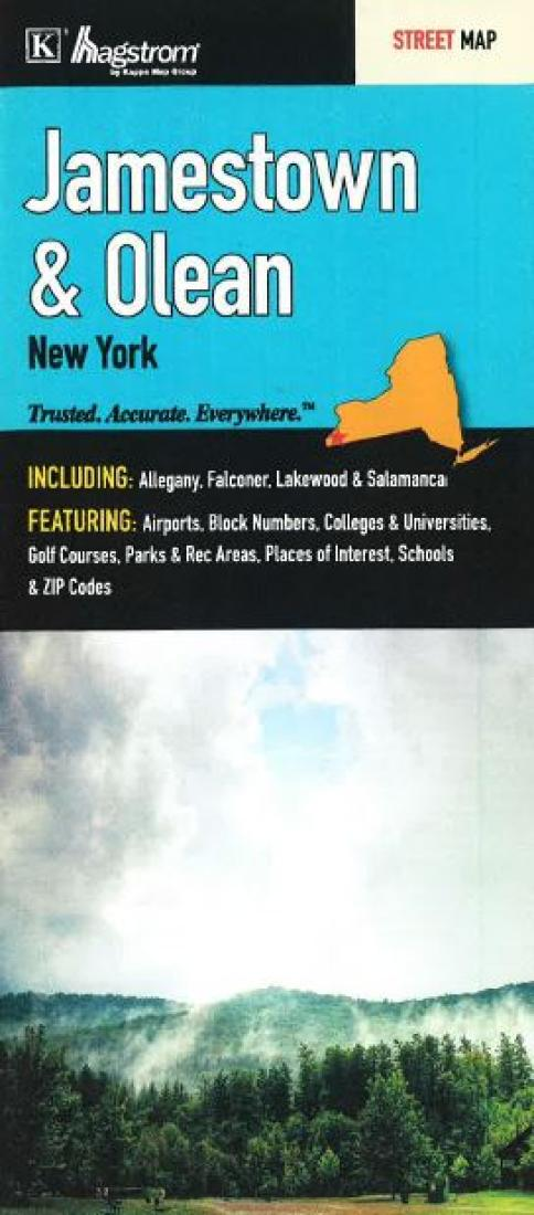Olean Ny Zip Code Map.Jamestown And Olean New York By Kappa Map Group