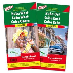 Cuba Map Pack, East and West by Freytag, Berndt und Artaria
