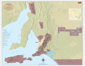 Australia, Southern, Wine Regions by Vinmaps
