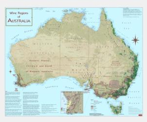 Australia, Wine Regions by Vinmaps