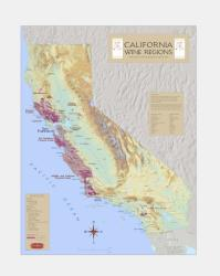 California, Most Prominent American Viticultural Areas by Vinmaps
