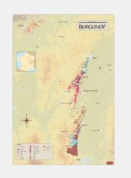 France, Burgundy, Wine Regions by Vinmaps