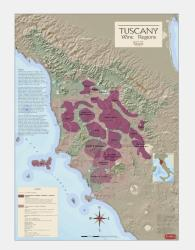 Italy, Tuscany, Wine Regions by Vinmaps