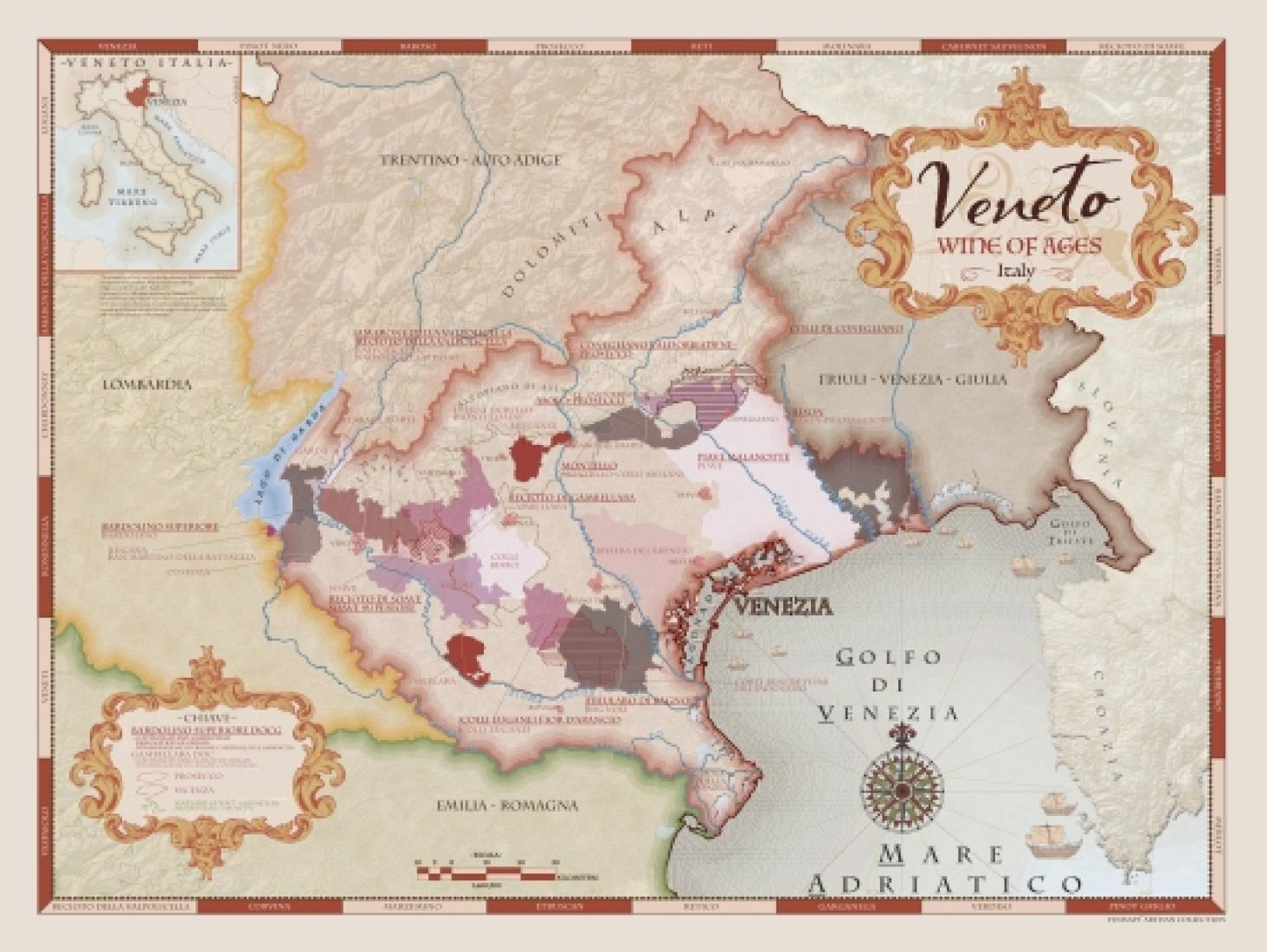 Veneto Wine of Ages Artisan Collection by Vinmaps