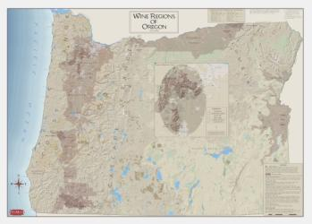 Oregon, Viticultural & Winery Areas by Vinmaps