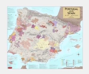 Portugal and Spain, Wine Regions by Vinmaps