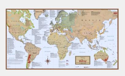 World, Essential Viticultural Zones (Wine) by Vinmaps
