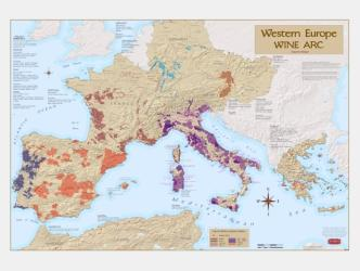 Europe, Western Wine Arc by Vinmaps
