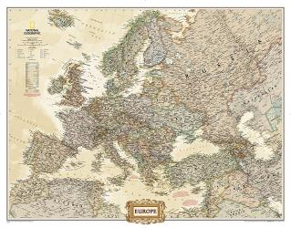 Europe, Executive, Mural by National Geographic Maps
