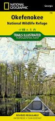 Okefenokee National Wildlife Refuge Map by National Geographic Maps