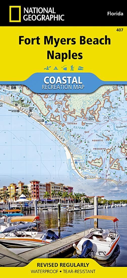 Florida Map Naples.Fort Myers Beach Naples Florida Map 407 By National Geographic Maps