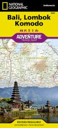 Bali, Lombok and Komodo Adventure Map 3005 by National Geographic Maps