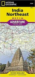 India, Northeast Adventure Map 3012 by National Geographic Maps