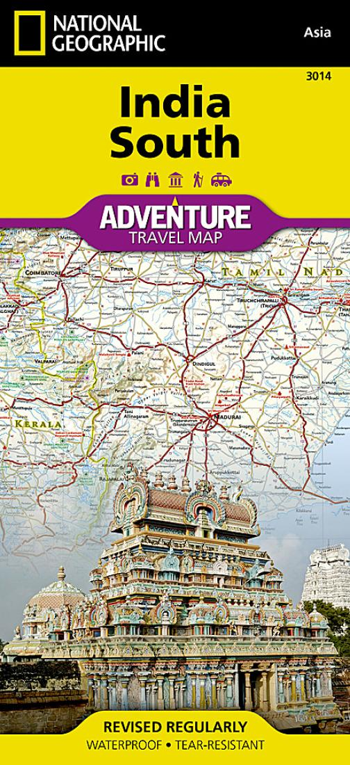 India, South Adventure Map 3014 by National Geographic Maps on national geographic history, geographical area of india, black and white map of india, national tree of india, geography map of india, enchanted learning map of india, historical map of india, state map of india, geographical location of india, major city map of india, current map of india, national geographic culture, map of africa and india, interactive map of india, blank map of india, detailed map of india, travel map of india, geographical features of india, print map of india, global map of india,