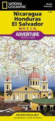 Nicaragua, Honduras and El Salvador AdventureMap by National Geographic Maps