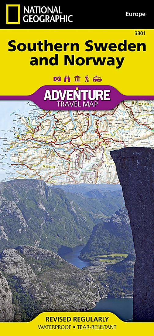 Sweden Southern And Norway Adventure Map By National - National geographic travel map